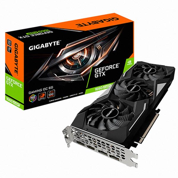 기가바이트 지포스 GTX 1660 SUPER Gaming OC D6 6GB 그래픽카드, 선택하세요