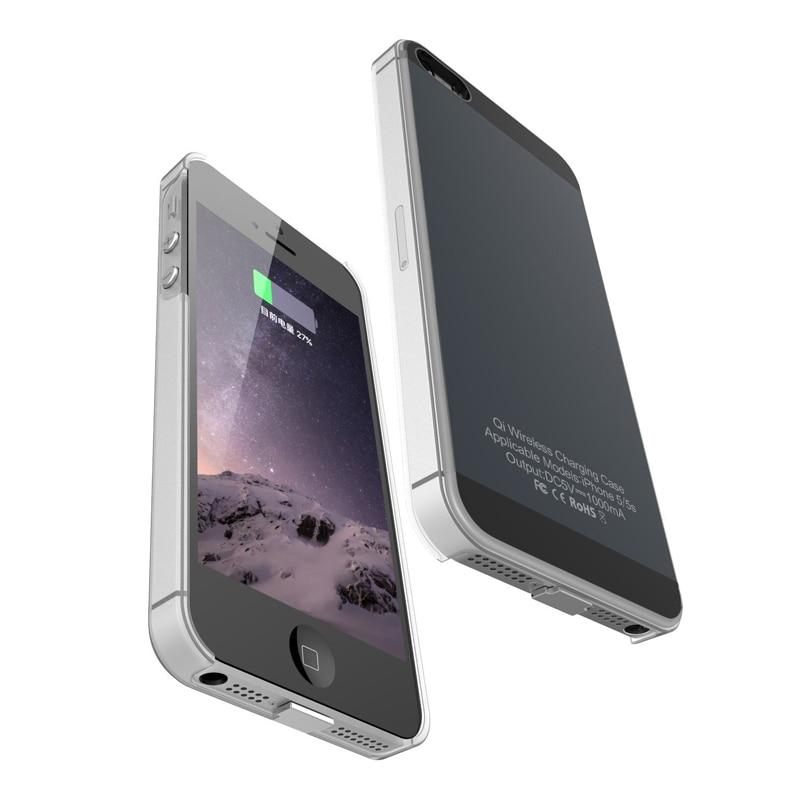 QI 무선 충전기 수신기 케이스 아이폰 5 5S SE / 6 6S 7 무선 충전 송신기 아이폰 6 6S 7 플러스 전화 케이스, 로즈 골드|5 5S SE (POP 5702798531)