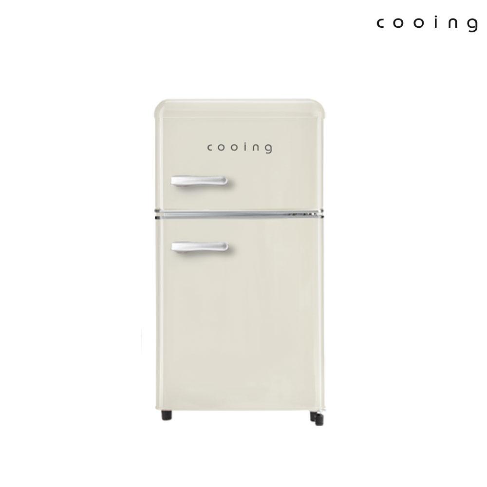쿠잉 북유럽형 레트로 소형 미니 냉장고 REF-D85R, REF-D85C