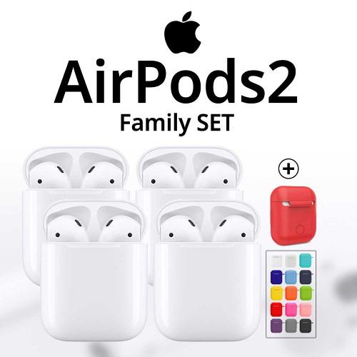 애플 [애플정품] 에어팟 2세대 유선충전 Airpods2 가족세트2(4개), 선택완료, 기본구성