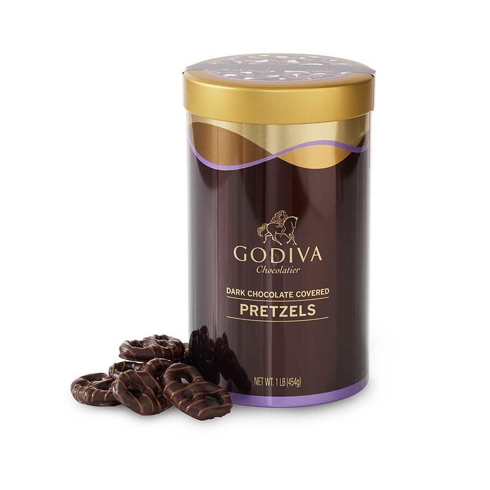 GODIVA Chocolatier 고디바 Dark Chocolate Covered Pretzels Gift다크초콜릿 프레즐, 1개
