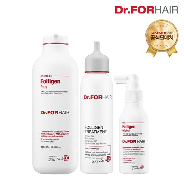 닥터포헤어 폴리젠 플러스 샴푸 500ml+폴리젠 트리트먼트 200ml+폴리젠 토닉 120ml, 1세트