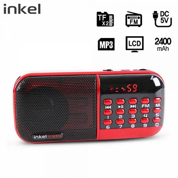 차이나차차 인켈 휴대용 효라디오 MP3 스피커 IKWR10 레드 라디오