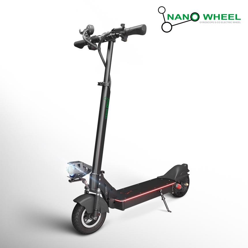 [나노휠] 전동킥보드 NQ-AIR 500W Plus+ 프리미엄 36V (10.4Ah), 블랙 (10.4Ah)