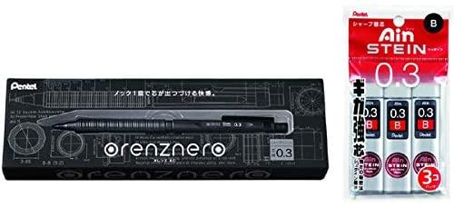 3.예상수령일 2-6일 이내 사무실 공급 업체 펜텔 샤프 오렌즈네로 0.3mm amp; 샤프 심 아인 슈타인 0.3 B, 상세 설명 참조0, One Color