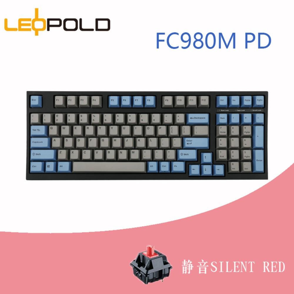 레오폴드 FC980M OE머신 키보드 저소음적축 옵션선택, 회청정음홍, 일반, 1