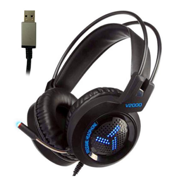 다몬딱 가상 7.1 채널 게이밍 헤드셋 어학용 해드폰 학생 교육용, 헤드셋 HEDS-02 블루