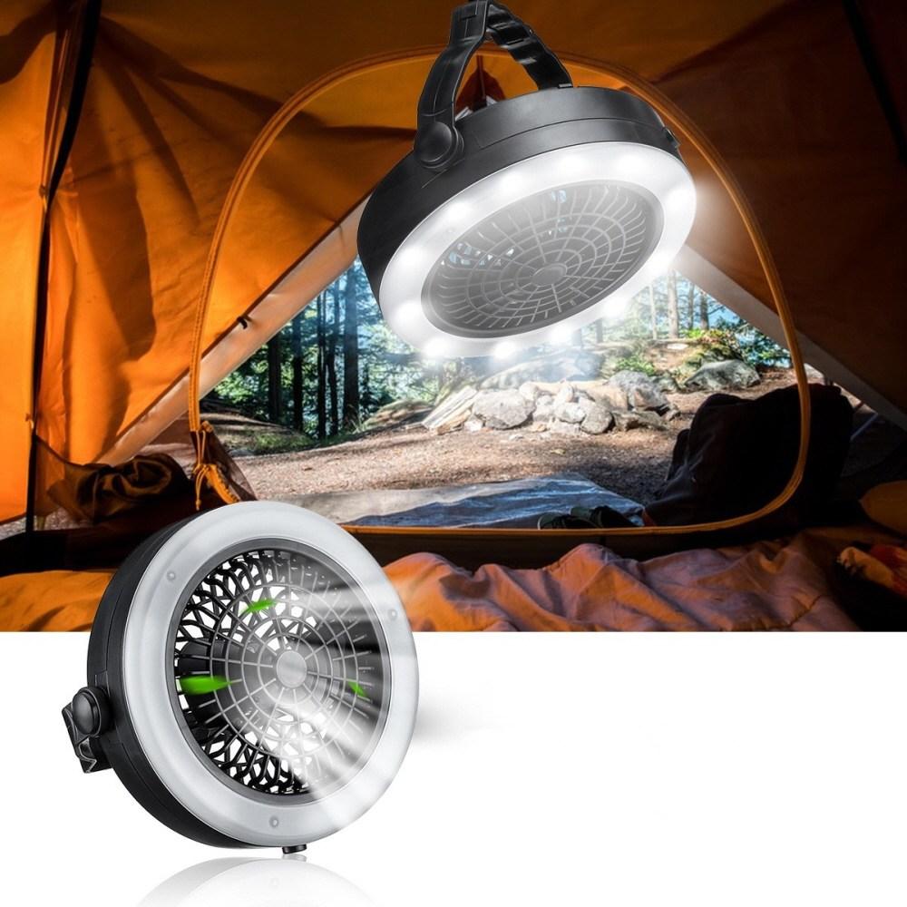 캠핑선풍기 캠핑용 LED 조명 텐트 타프팬 실링팬 천장 선풍기