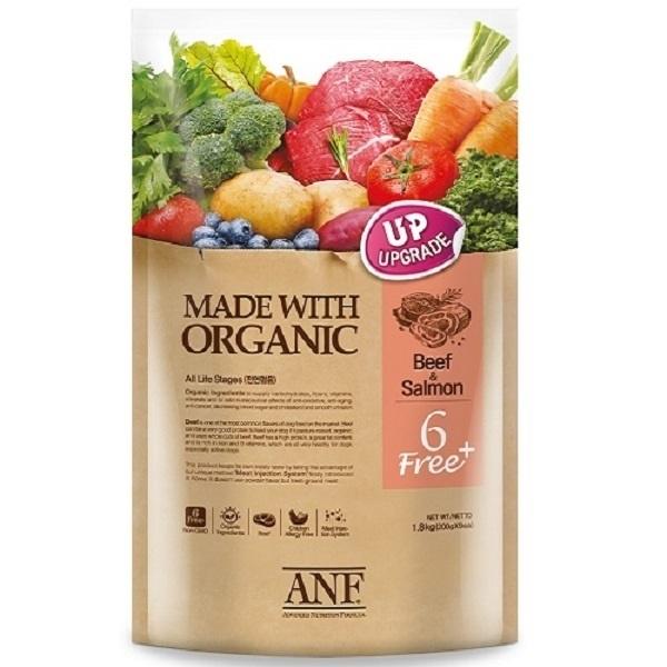 [ANF] 유기농 6Free 플러스 소고기&연어 5.6kg 강아지사료, 단품