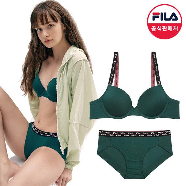 [휠라] [공식] FILA 아웃핏 빈티지 여성속옷세트 그린 (FI4BAC6444F_DGR)