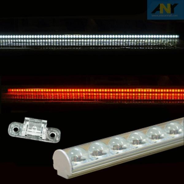 개미상회12V용 확산형 볼록렌즈 장착 LED바 90구 150CM (1개가격), 12용 레드-옐로우+고정클립(3개)