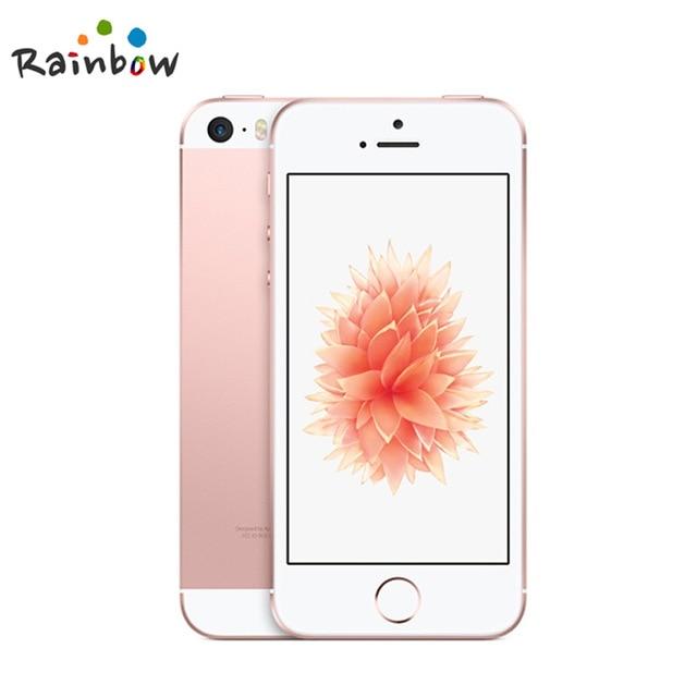 원래 잠금 해제 애플 아이폰 SE 지문 듀얼 코어 4G LTE 스마트 폰 봉인 2GB RAM 16/64GB ROM 터치 ID 휴대, 03 Rose Gold, 04 64GB A1723