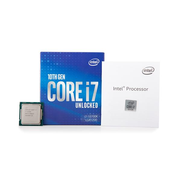 박스 인텔 코어10세대 정품 i7-10700K CPU (코멧레이크 LGA1200 쿨러미포함), 1개, 선택하세요