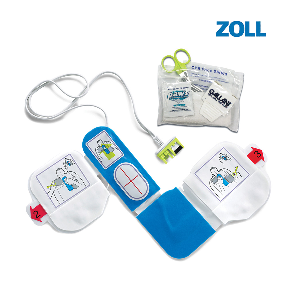 ZOLL AED Plus 전용 일체형전용패드 성인용+구급키트