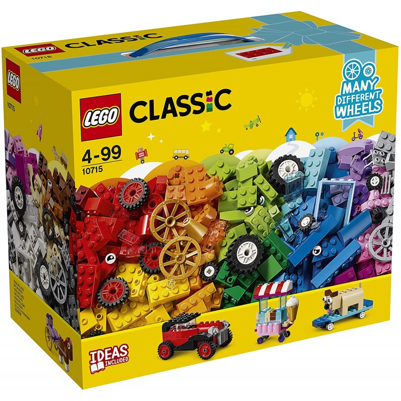 레고 클래식 - 벽돌과 바퀴 ® 상자 - 10715 - 건설 게임, 단일상품