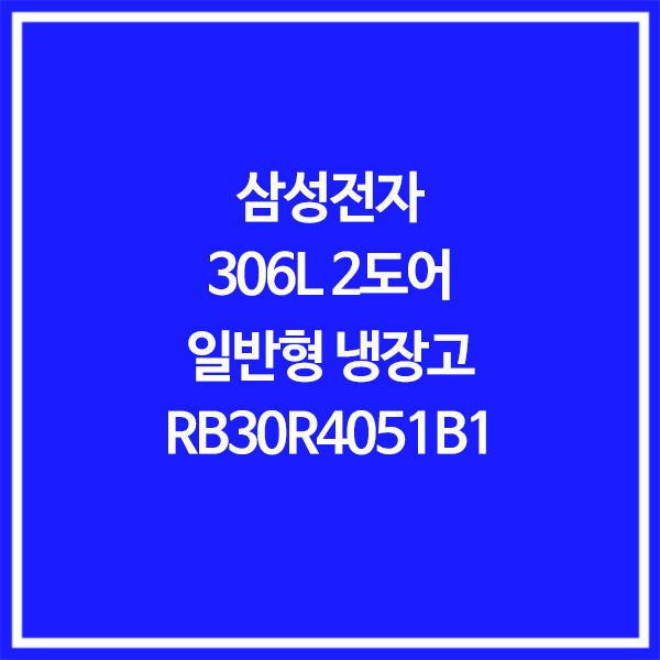 삼성전자 전국무료배송 일반형 306L 냉장고 RB30R4051B1