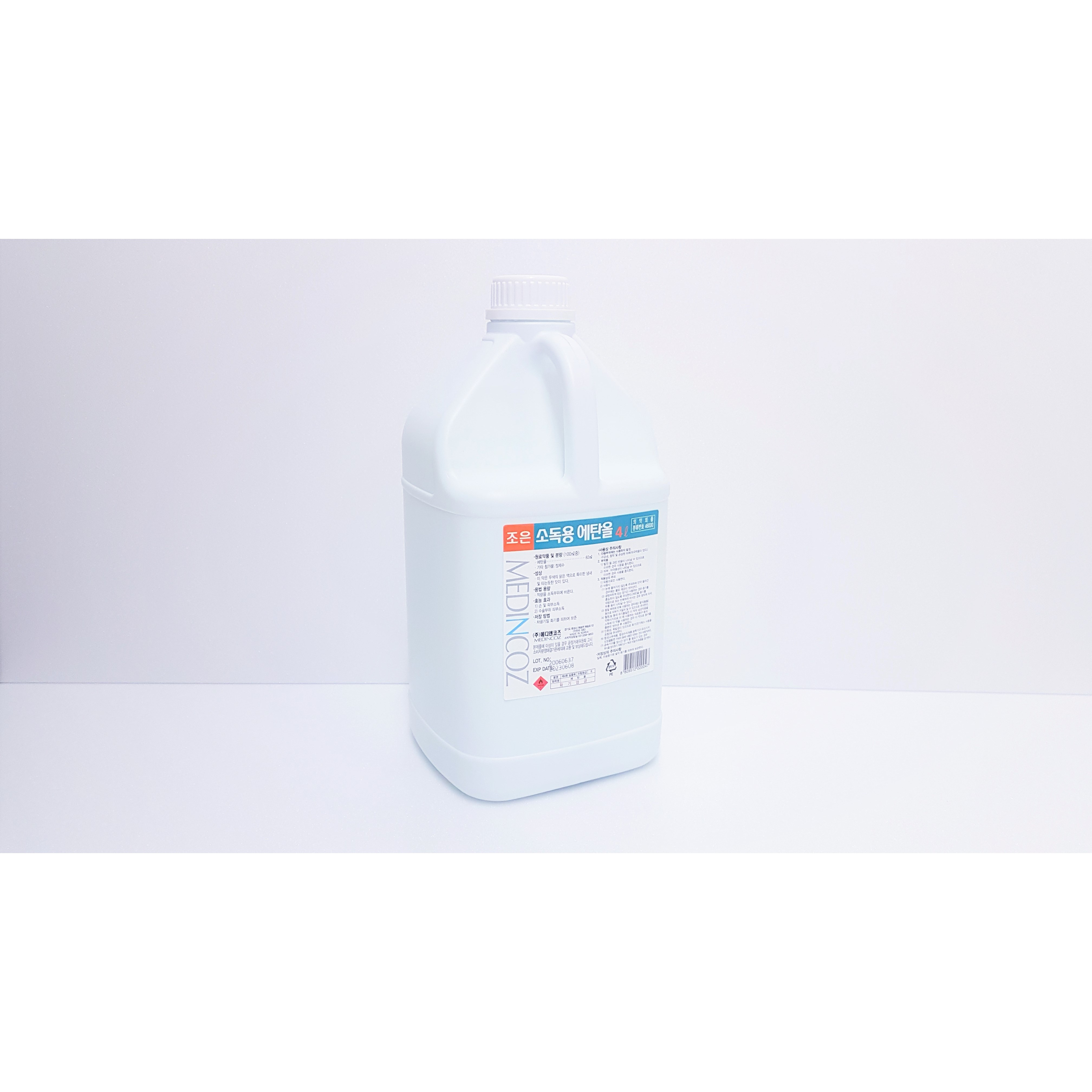 조은팜 소독용 에탄올 83% 4L, 2. 4L 2통 (POP 4736884703)