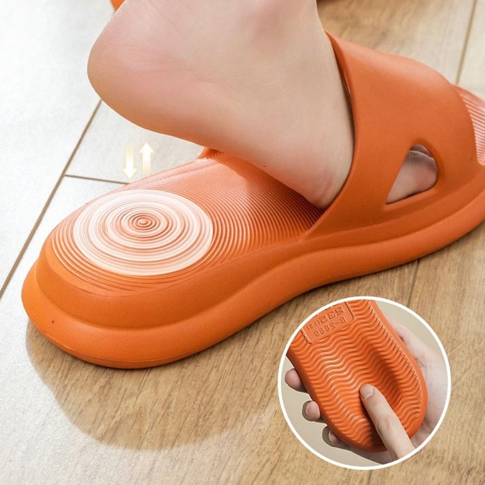 인터리더 쿠션좋은 슬리퍼 족저근막염 임산부 층간소음 지압 푹신한 발편한 실내화, 1개