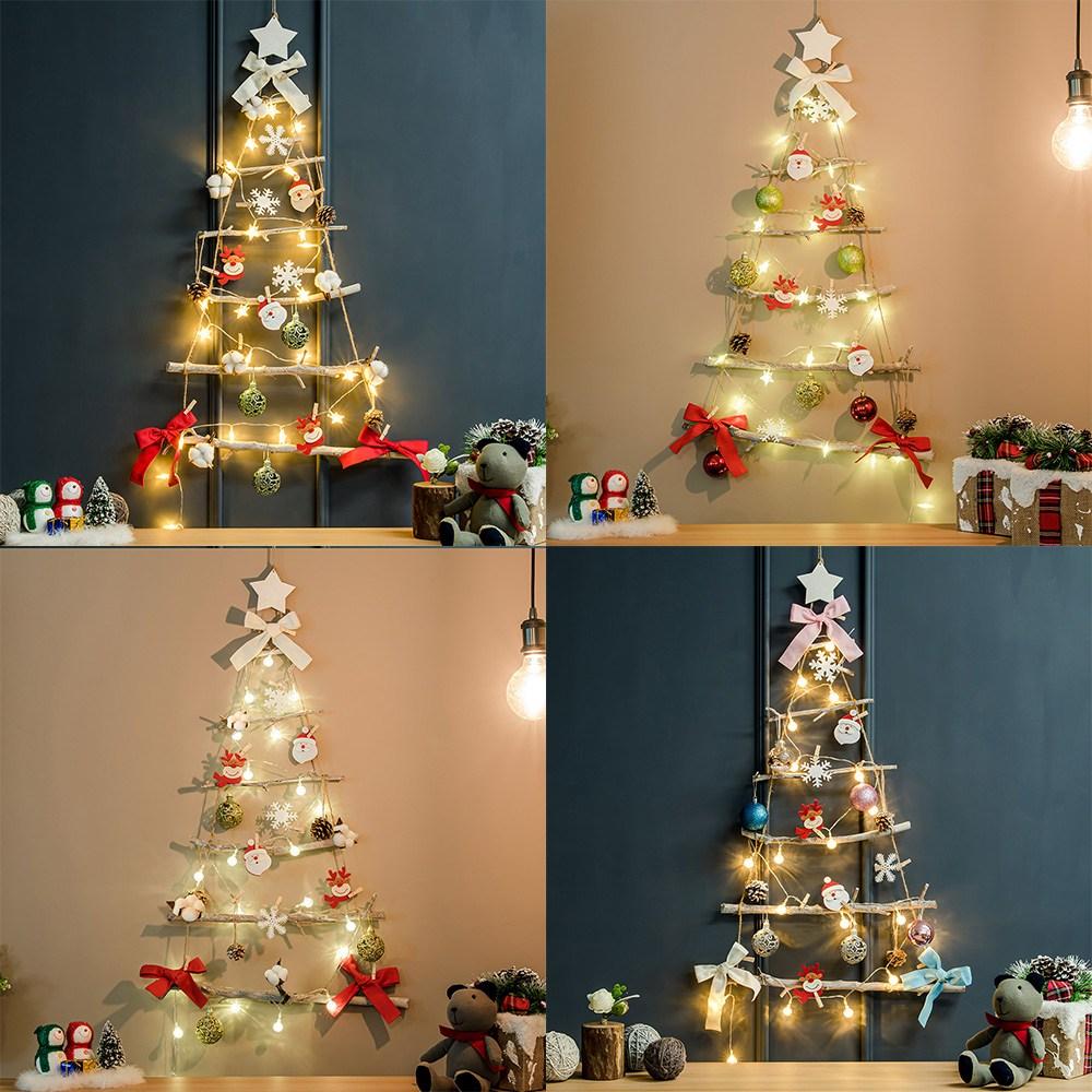 홈트너 크리스마스 트리전구 겨울감성 벽트리, 호즈 (별전구 포함)
