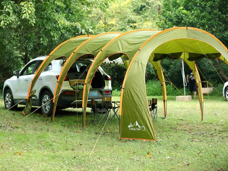 Labuta 자동차 카텐트 SUV 카니발 싼타페 투싼 코란도 레이 차박 캠핑 꼬리 도킹 돔 텐트 용품, 10인, 돔형텐트-도어커버포함