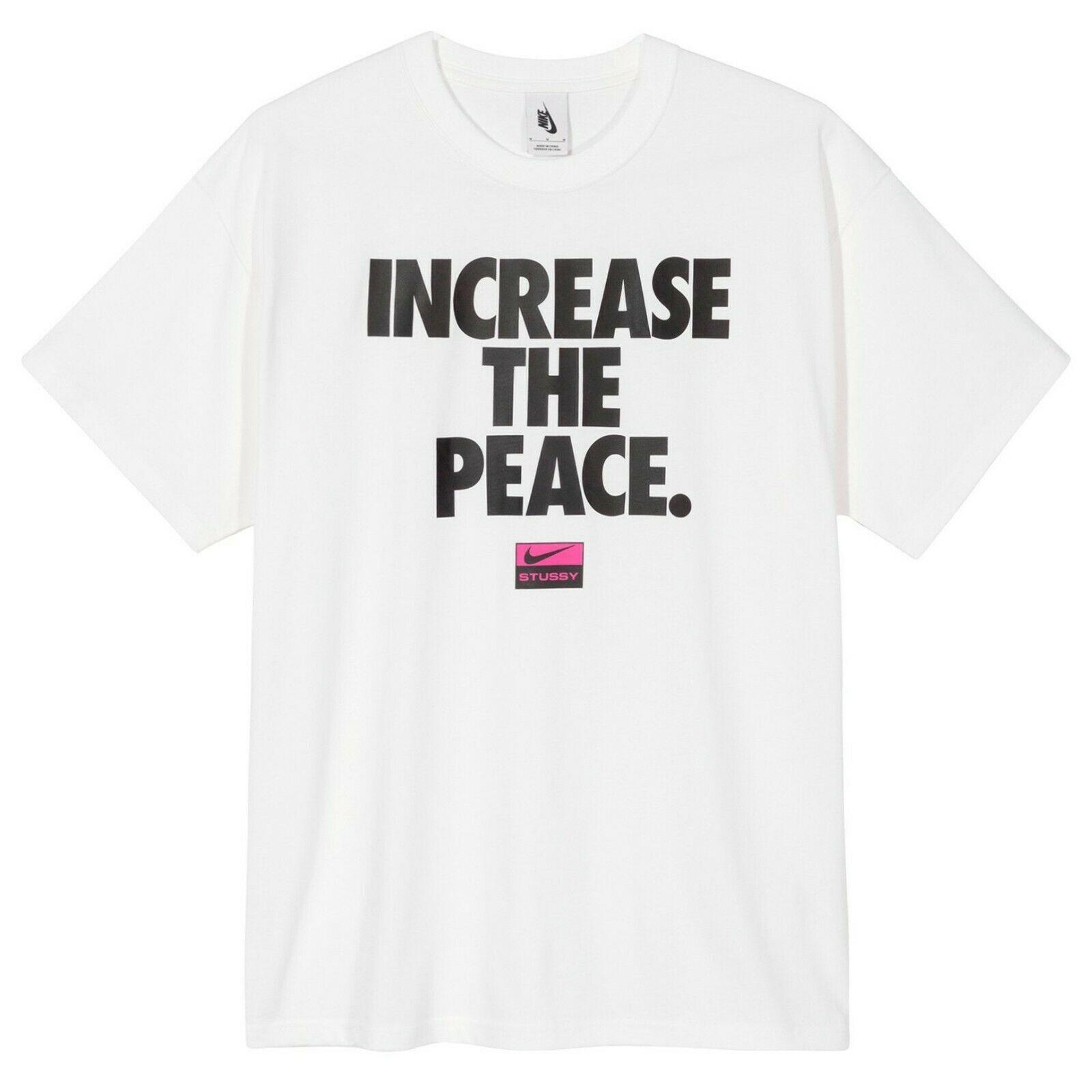 Stussy / Nike INCREASE THE PEACE Tee XL - Air Zoom Spiridon Cage 2 Apparel