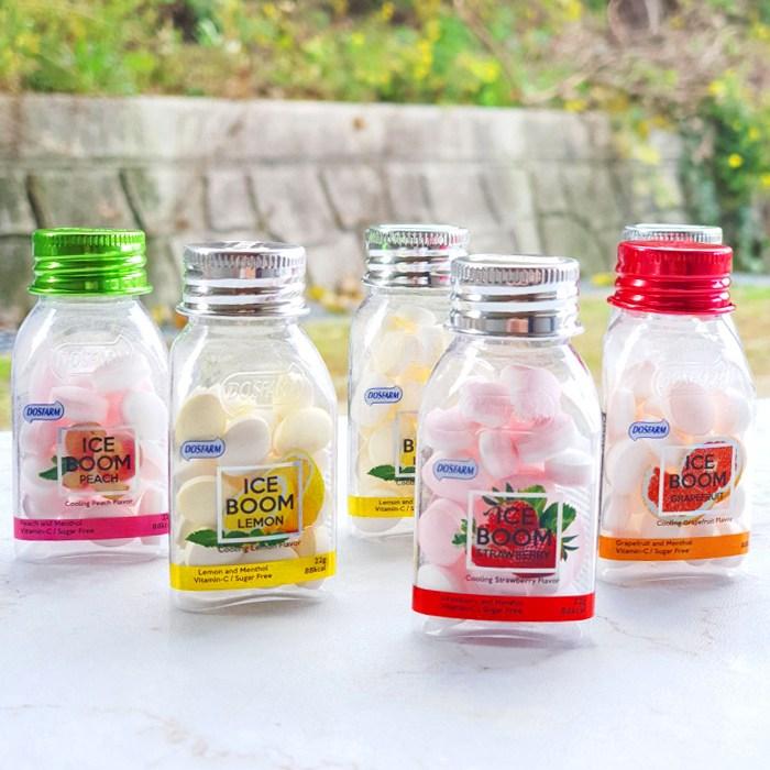 아이스붐 레몬맛 딸기맛 복숭아맛 자몽맛 (4가지맛 1개씩), 1개, 22g