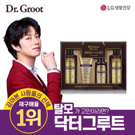 [재구매율 1위] 닥터그루트 탈모증상케어 탈모샴푸 선물세트, 단품