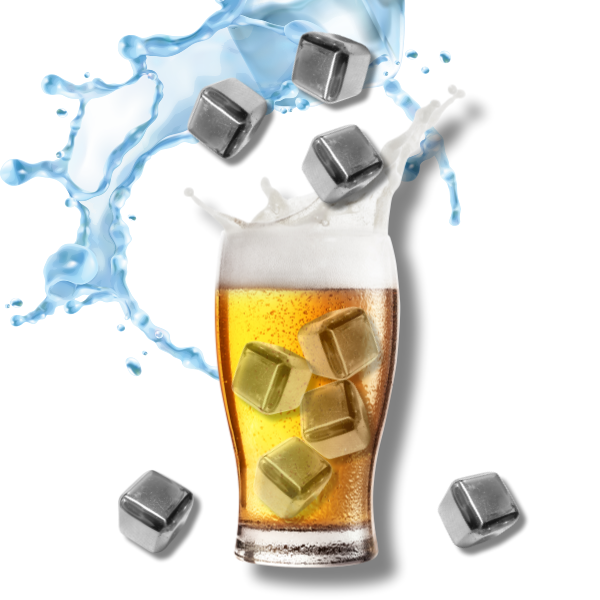[위스키얼음] 녹지않는 얼음 하이볼 얼음 아이스큐브 스테인레스 아이스, 아이스큐브(스테인레스얼음)