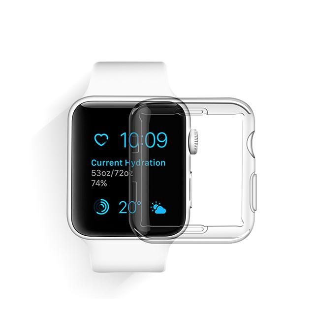 아카빌라 애플워치 SE 6 5 4 3 투명 액정보호 케이스, 1개, 애플워치 2/3공용(42mm) - 투명