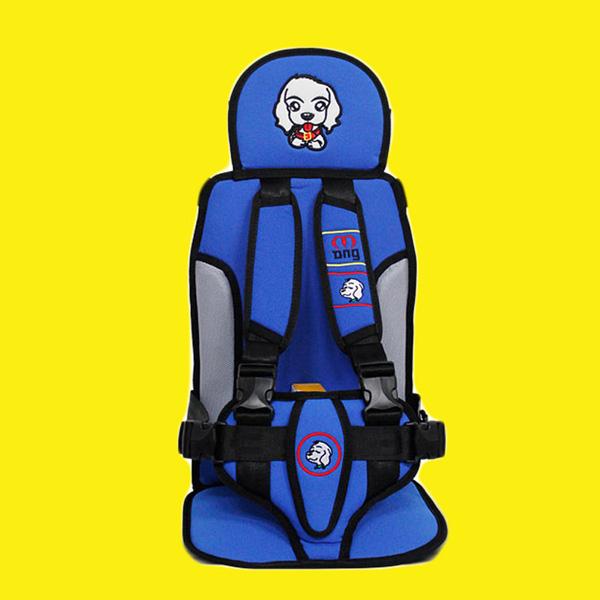 몽구 차량용 유아 아동 보조벨트 3점식 안전벨트 KC안전인증 카시트, 블루