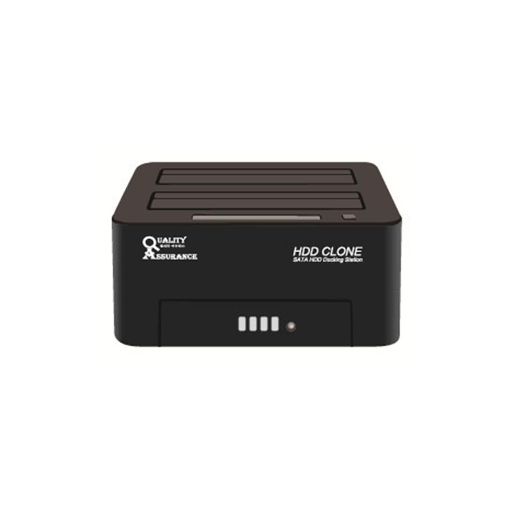 퀄리티어슈런스 USB 3.0 하드 복사기 2.5 3.5인치 SSD HDD 복사 복제 클론 SATA 도킹스테이션 외장하드 케이스, Q6G DOCK