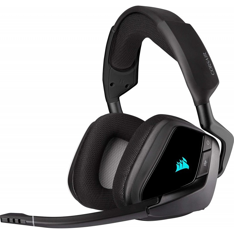 해적 CA-9011201-EU 보이드 엘리트 RGB 무선 게이밍 헤드셋 서라운드 사운드 7.1 무선 2.4 GHz의 낮은, 단일상품, 단일상품