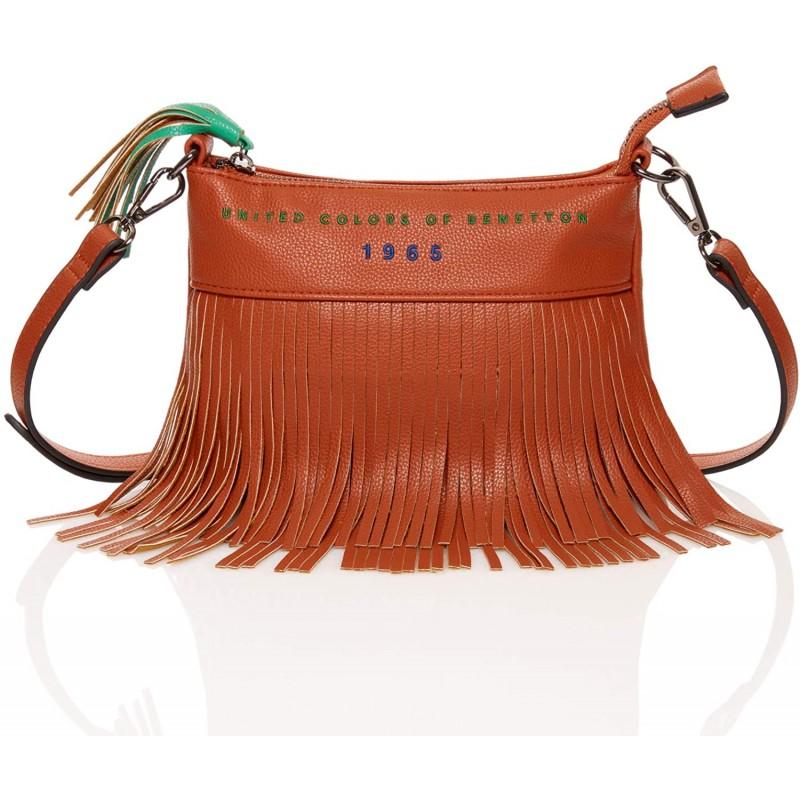 [유나이티드 컬러 스 오브 베네통] 가방 프린지 어깨 스퀘어 백 JCC 여성 브라운 FREE