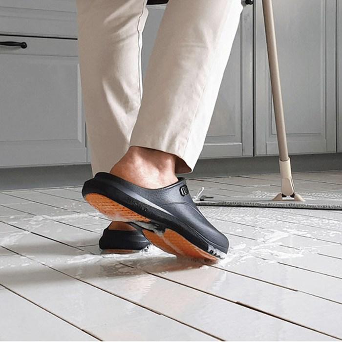 스티코 미끄럼방지 NEC-03S 블랙 조리화 샌들 위생신발 주방신발 주방안전화
