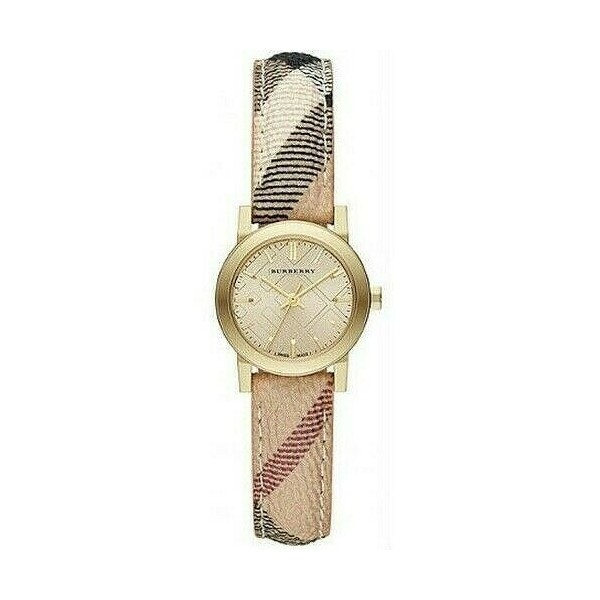 379908 / Brand New Burberry BU9219 Haymarket Check 26 mm Stainless Steel Womens Watch