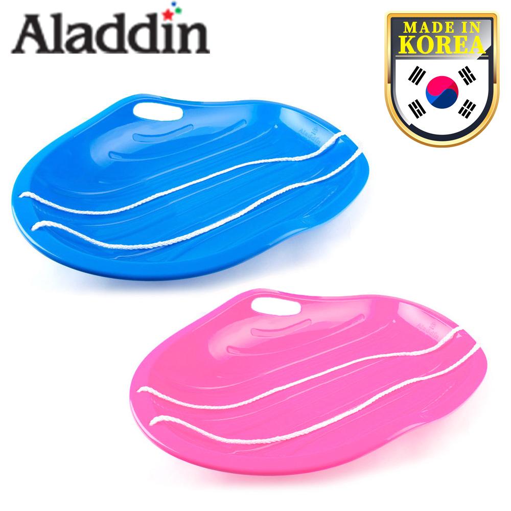 알라딘 눈썰매 스노우보드 1인용 2인용 국내생산, 1인용 분홍색