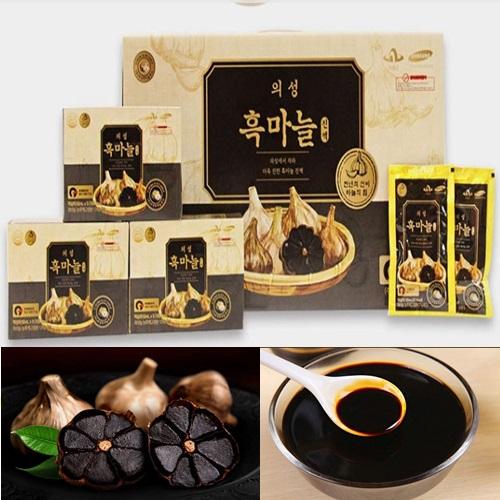 [미미사몰] 추석선물 의성 흑마늘진액 1박스 30포 효도선물, 1개
