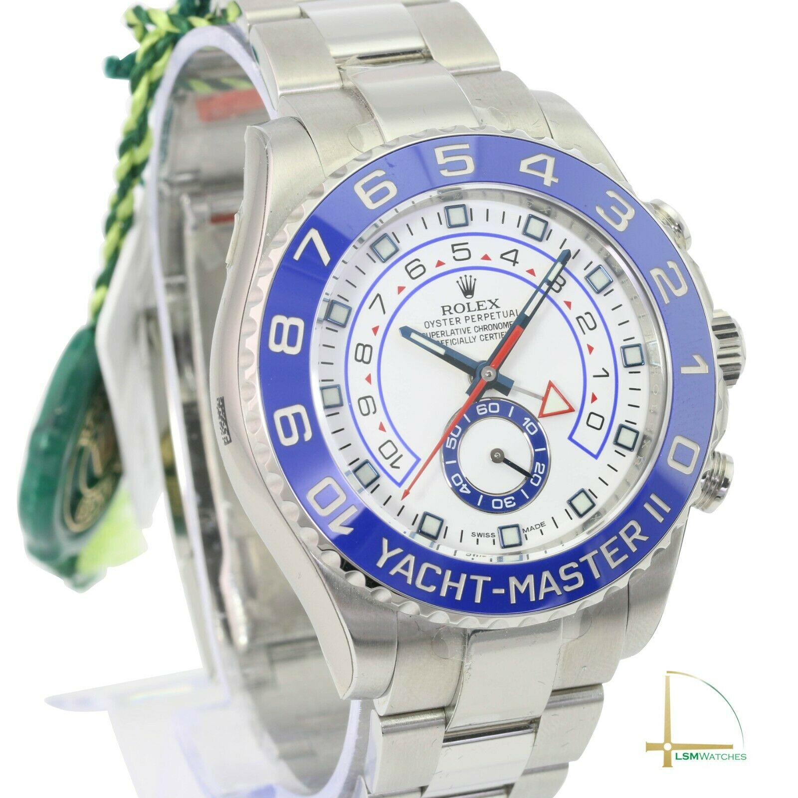 362732 남성용 롤렉스 Rolex 시계 Yacht-마스터 II 116680 스테인리스 스틸 44mm 블루 /화이트Face