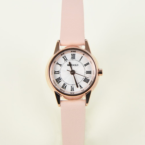 미니골드 레트로 라운드 시계 핑크 WOO001LWPK