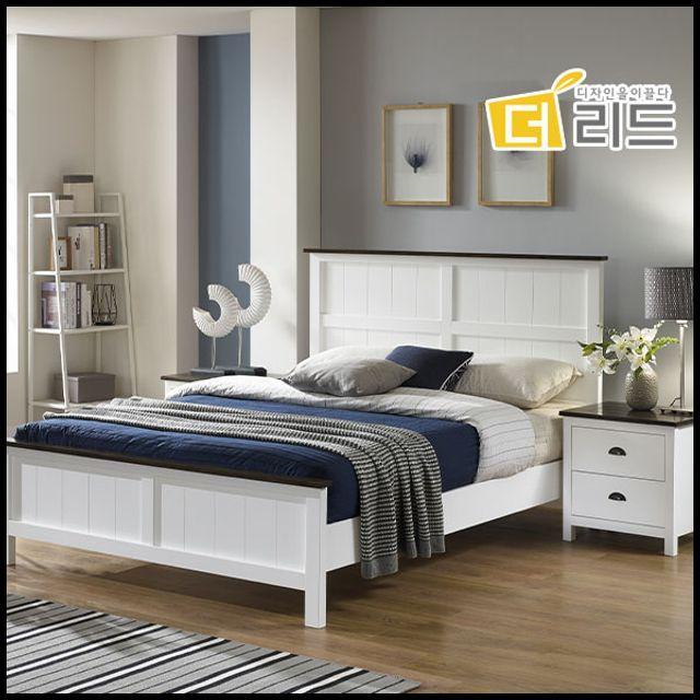 OT 슈바 고무나무원목 침대프레임K+협탁 슈퍼싱글침대 퀸침대 내추럴침대 심플침대, OWTD 본상품선택