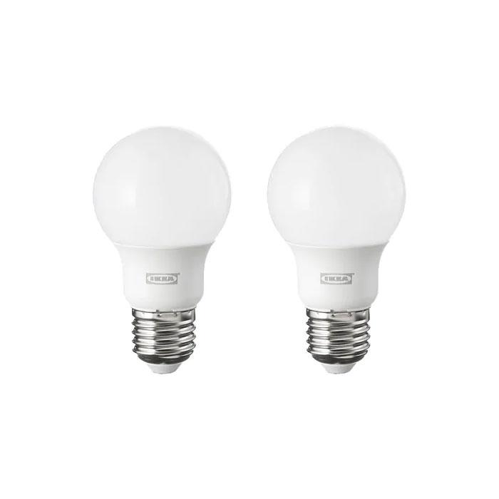 이케아 RYET 뤼에트 LED전구 E26 600루멘2개세트구형오팔화이트2700, 구형오팔화이트_804.267.73