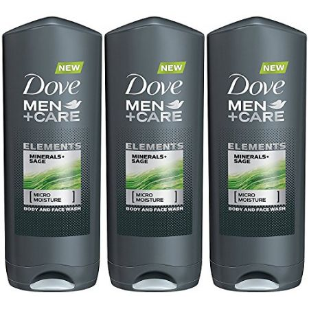 Dove Men + Care Elements Body Wash Minerals and Sage (13.5 Ounce X 3) PROD470029730, 상세 설명 참조0, 상세 설명 참조0, 본문참고