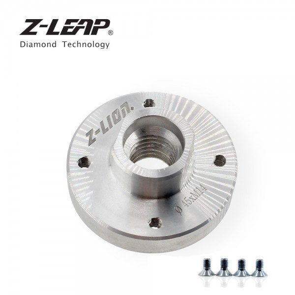 362335 / Z-LEAP 2 pcs 앵글 그라인더 액세서리 톱 블레이드 어댑터 지원 고정 나사 5/8-11 또는 m14 알루미늄 리지드 플랜지 22.23mm