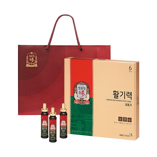 정관장 활기력 + 쇼핑백, 20ml, 16병