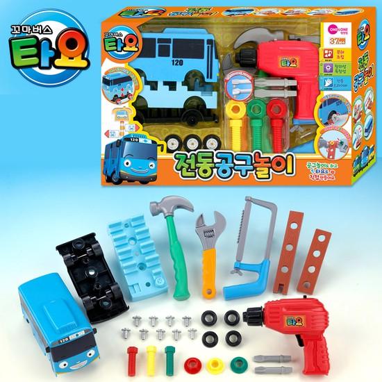 [원앤원] 타요전동공구놀이 / 공구놀이 장난감공구 장난감공구세트 공구장난감 드릴장난감 실내놀이