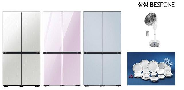 [신세계TV쇼핑]S(사은품 코렐 4인 14p+써큘레이터) 삼성 비스포크 냉장고 RF85T9111AP (871L / 1등급 / 글래스), 글램 화이트