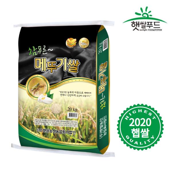 2020년 햅쌀 국산 맛있는 참푸른 메뚜기 쌀 20kg, 단품