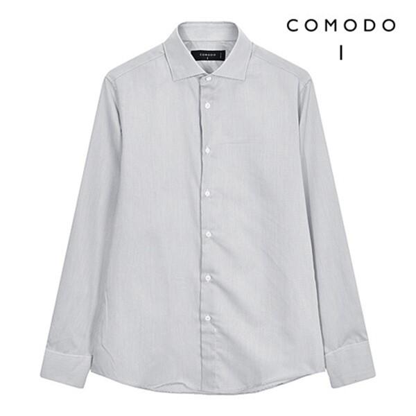 COMODO 코모도 코튼혼방 마이크로 다크그레이 패션 셔츠