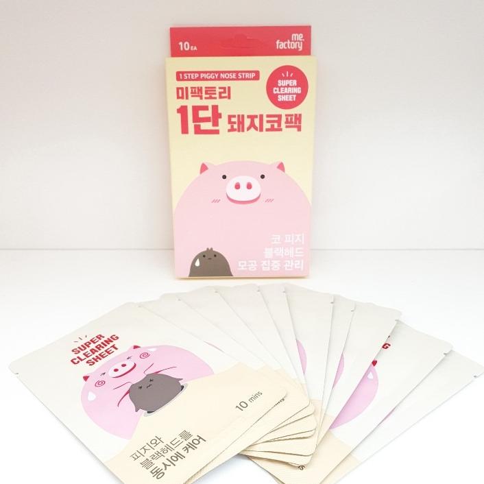 눙크(미샤) 미팩토리 1단 돼지코팩 10개 (#눙크뉴코아부천점)_ 코피지 쑝쑝 뽑히는 새로운 경험하세요! 흡착력 모공조임까지 다 케어되는 말이 필요 없는 제품!!, 10매입, 1개