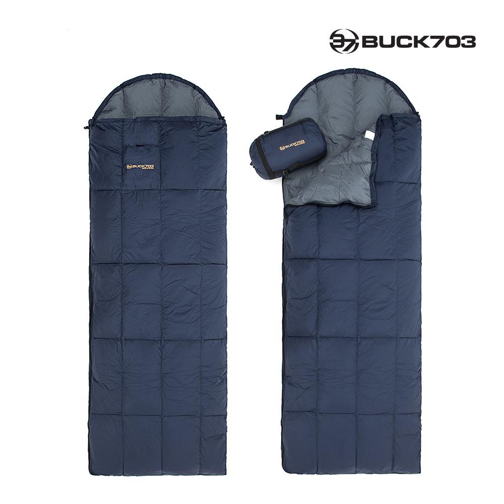 [BUCK703] 550g(솜털80%)오리털침낭/사계절/캠핑용품/캠핑침낭, 단품